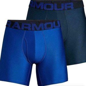 Under Armour Tech 6in Underwear 2-Pack M Mod Blue